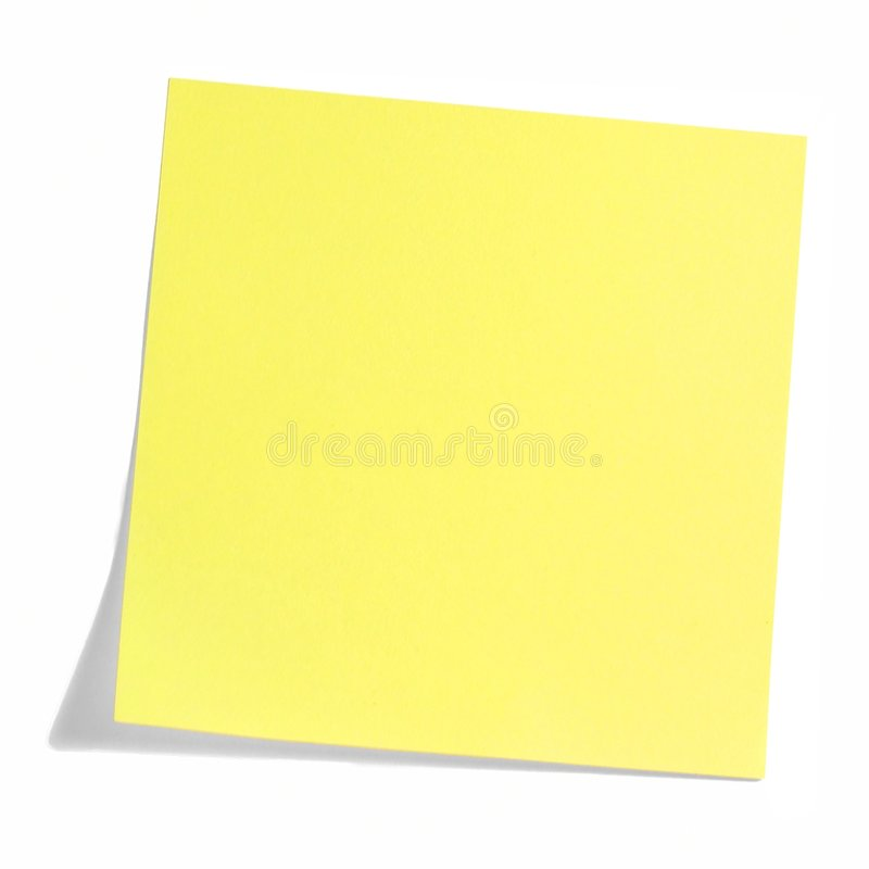 Yellow note stock images