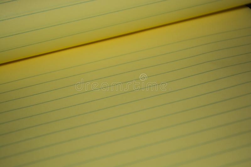 Yellow Note/Legal Pad royalty free stock image