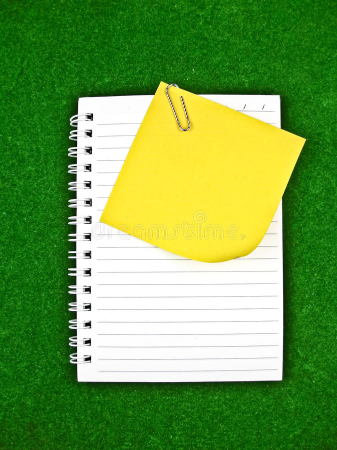 Download Yellow Note And Notebook Paper Stock Photo - Image: 17483222