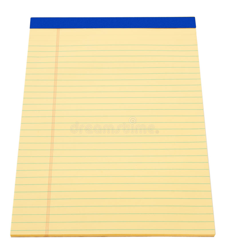 Download Yellow Note Pad stock photo. Image of isolated, notebook - 23615920