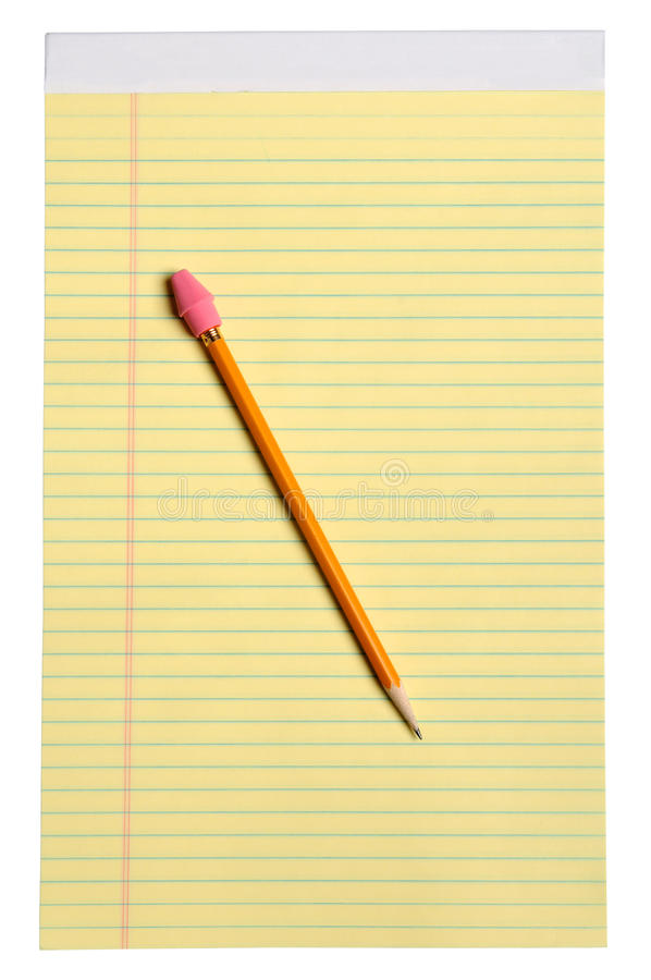 Download Yellow Note Pad With Pencil Stock Photo - Image: 13577454