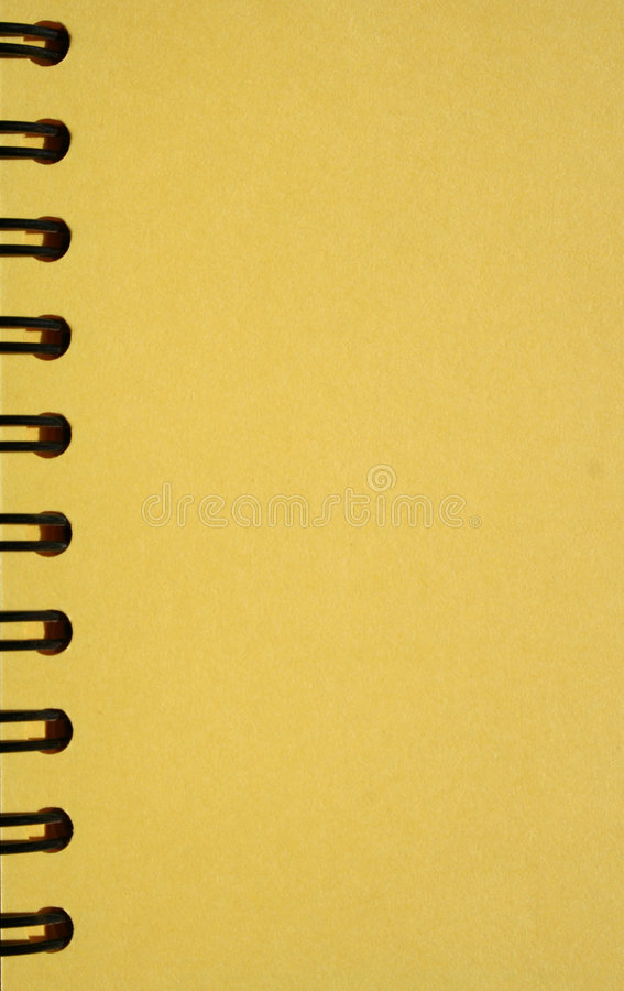 Download Yellow Notebook With Spirals Stock Image - Image: 650555