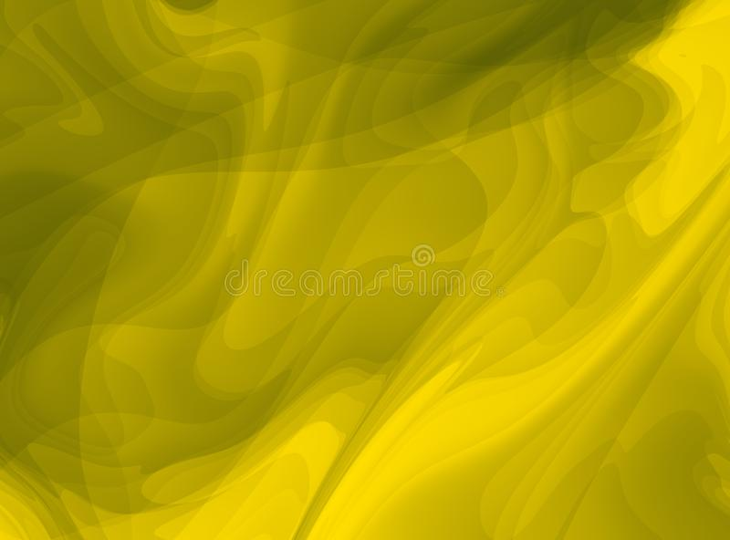 Yellow olive green modern abstract fractal art. Bright background illustration with chaotic pattern. Creative graphic template, fr stock illustration