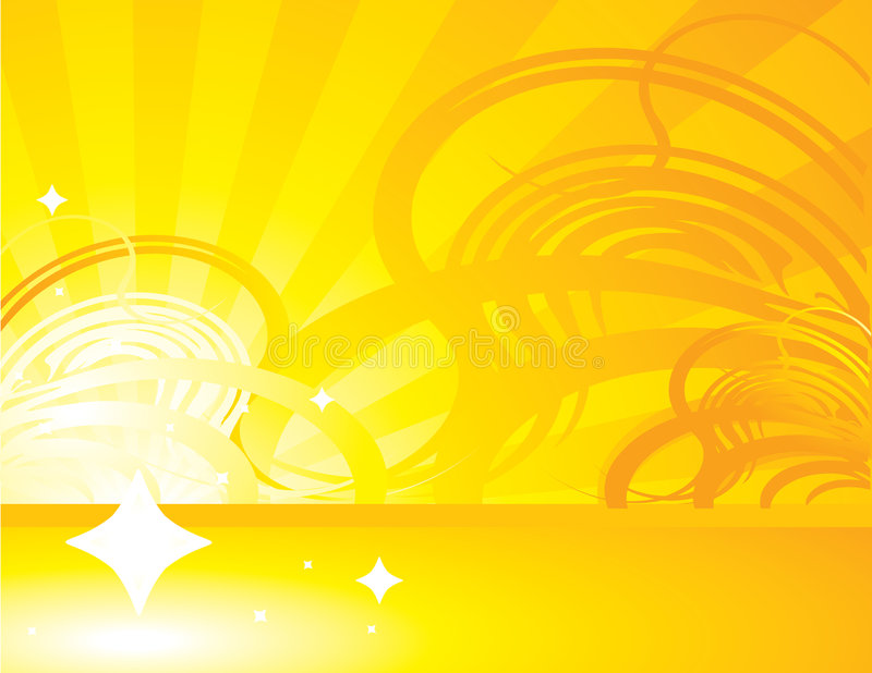 Yellow orange abstract ray background 1 vector illustration