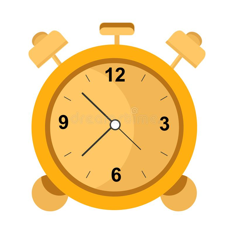 Free Yellow-orange Alarm Clock As An Isolated Object On A White Background Stock Photos - 215884593