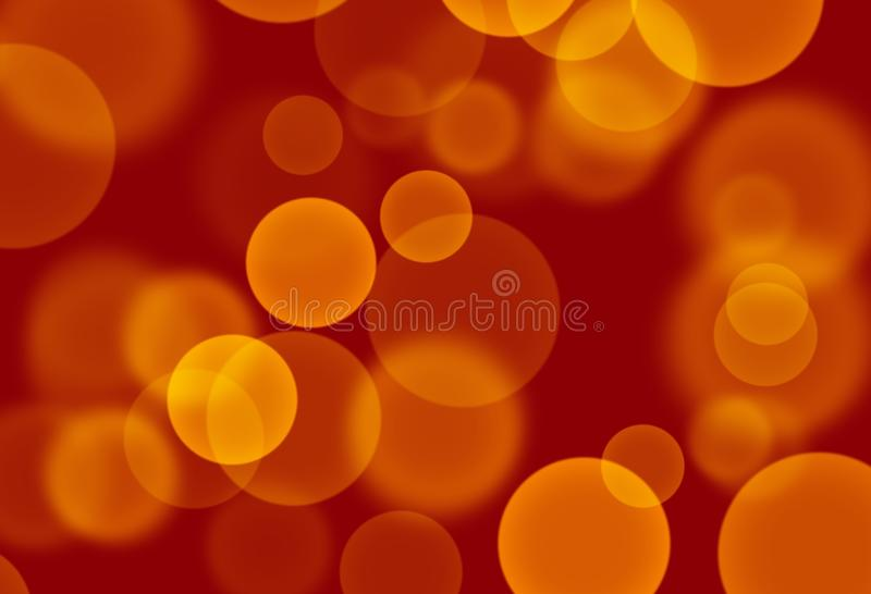 Yellow - Orange circles on red background wallpaper royalty free illustration