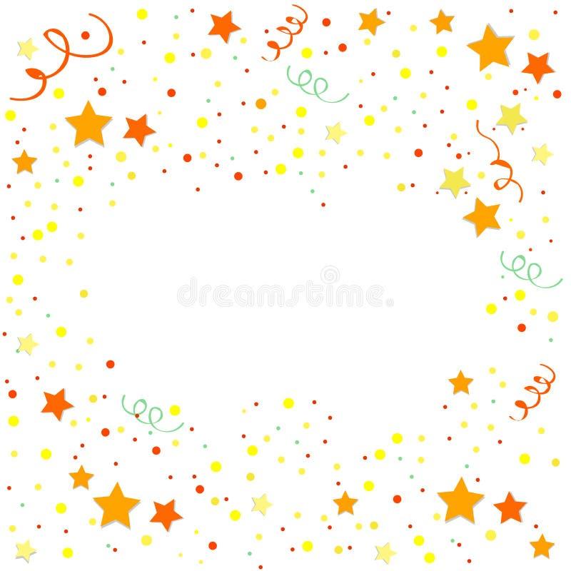 yellow and orange confetti vector festive illustration of falling rh dreamstime com confetti vector image confetti vector free download