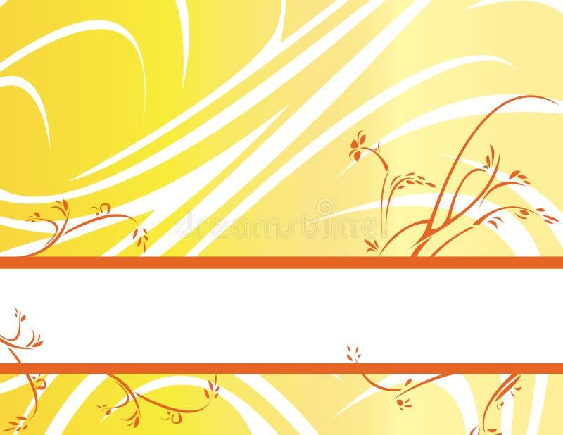 Yellow orange floral banner ba vector illustration