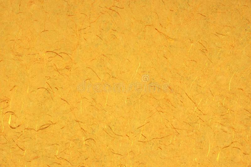 Yellow Orange Gold Amber Citrine Color Mulberry Handmade Paper B royalty free stock images