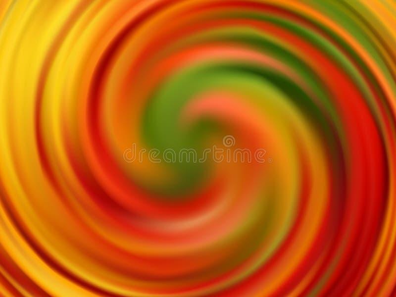 Yellow orange green swirl background. Bright autumn colors. Eps10 royalty free illustration
