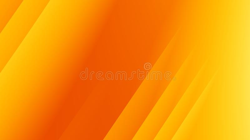 Yellow orange modern abstract fractal background illustration with parallel diagonal lines stock illustration