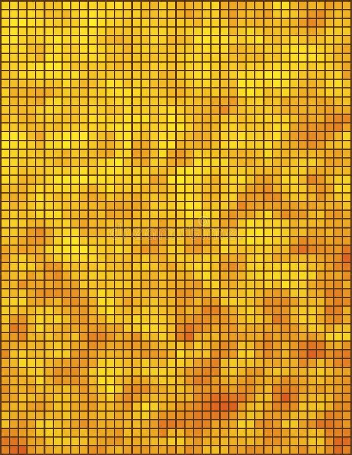 Yellow And Orange Mosaic Stock Photo