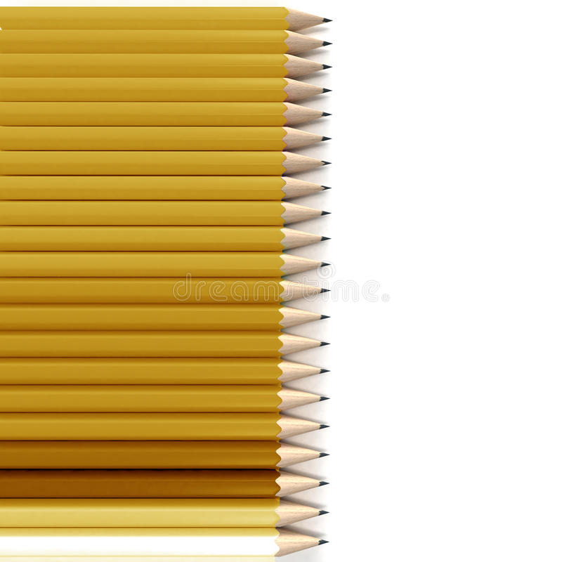 Download Yellow And Orange Pencil  Background Stock Illustration - Image: 11647988