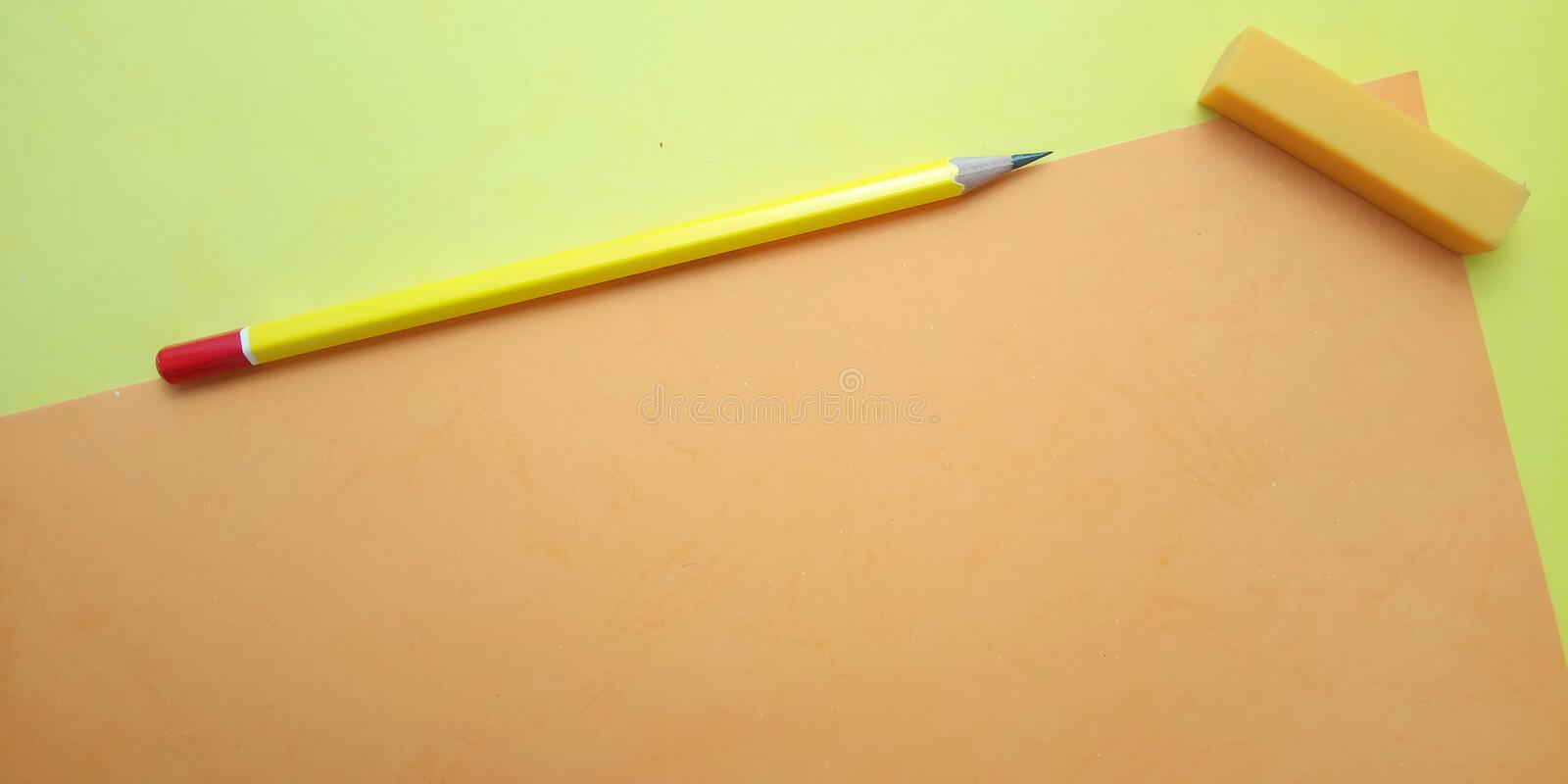 Flat Lay, Yellow and Orange Photo Blank Template for Background Element Design for message, quote, information text placement. Yellow and Orange Photo Blank royalty free stock images