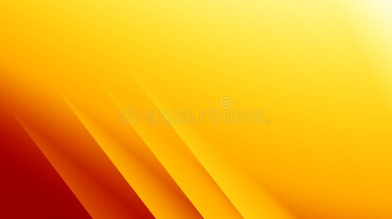 Yellow orange red modern abstract fractal background illustration with parallel diagonal lines. Text space. Professional business. Style. Creative template for royalty free illustration