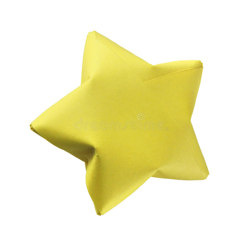 Download Yellow origami star stock image. Image of yellow, symbol - 28443601
