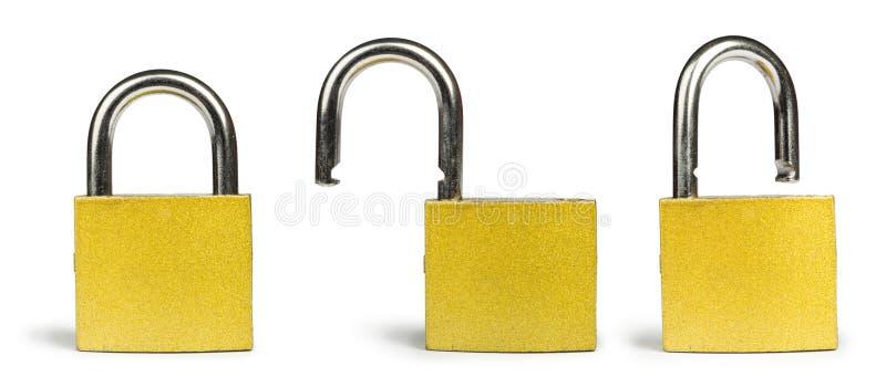 Download Yellow padlock stock image. Image of metallic, steel - 31369023
