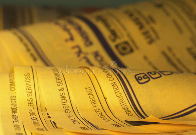 Yellow Pages 1 images stock