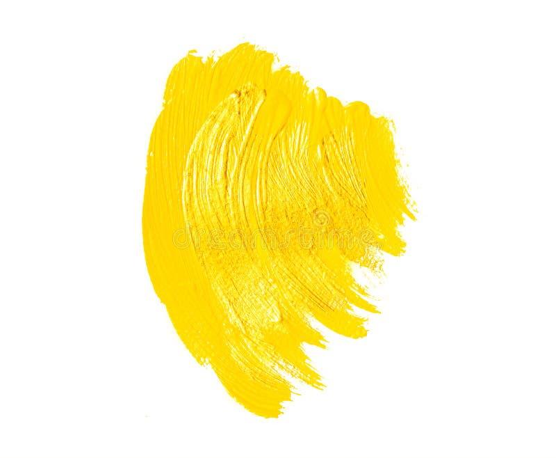 Yellow paint brush strokes royalty free stock photo