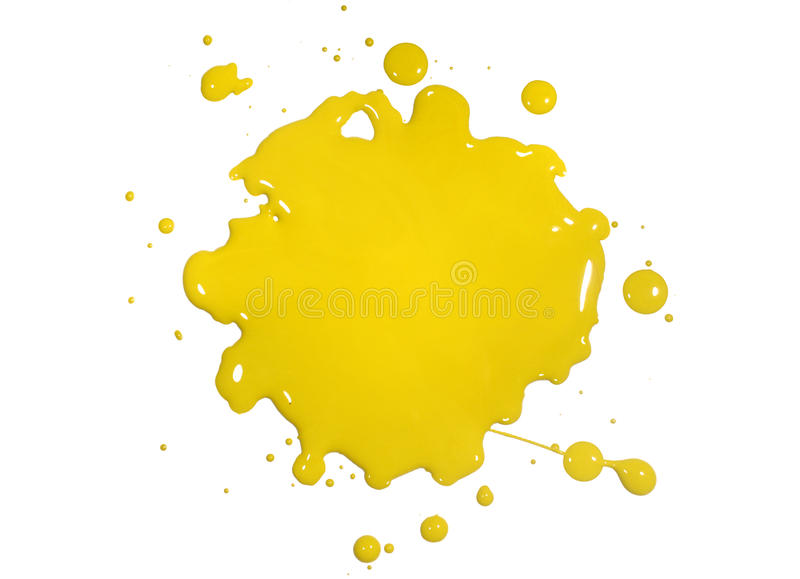 Yellow paint splatter stock image image of blot inkblot for How to make yellow paint
