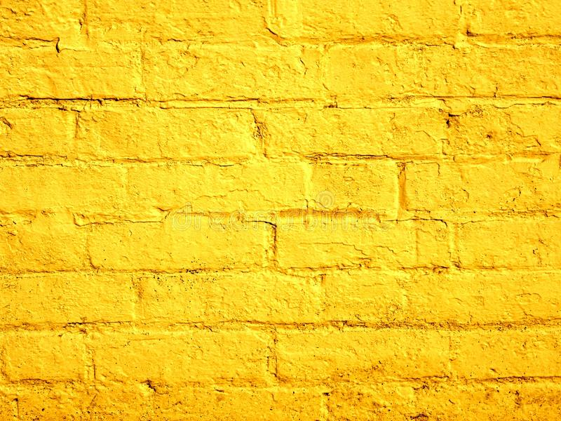 Yellow Painted Brick Wall Background Stock Photo - Image of pages ...