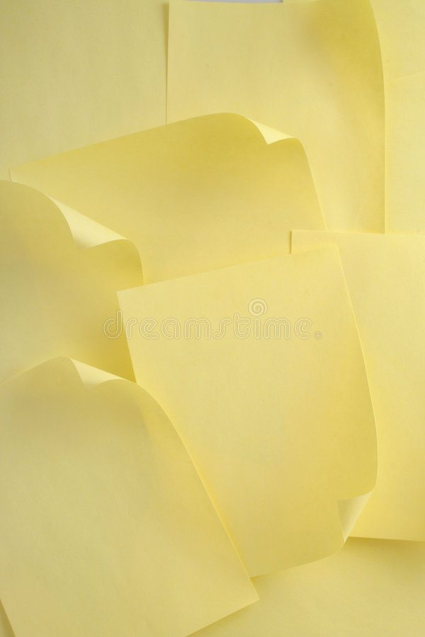 Download Yellow paper stock image. Image of busy, writing, yellow - 466395