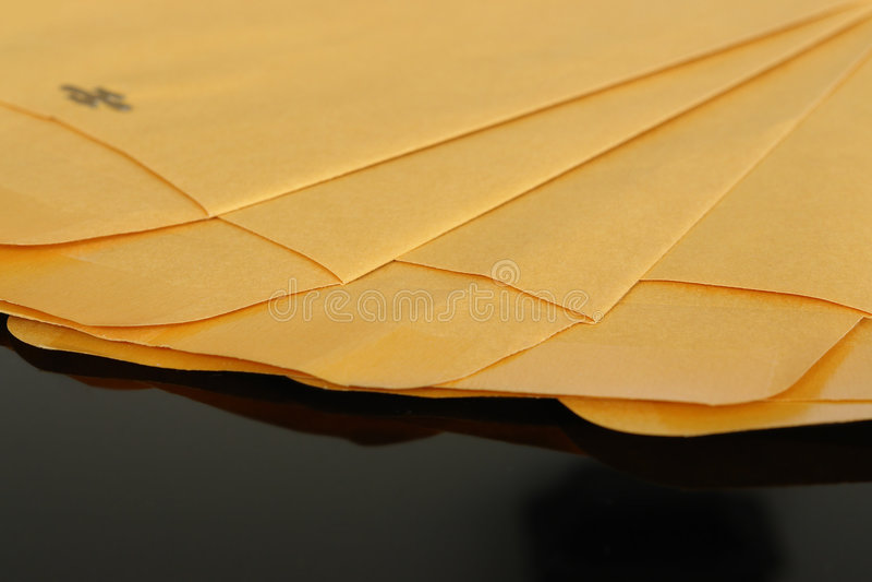 Download Yellow paper envelopes stock photo. Image of envelopes - 2017290
