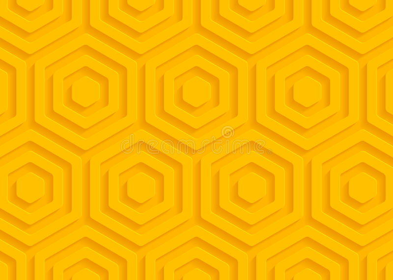 Yellow paper geometric pattern, abstract background template for website, banner, business card, invitation, postcard vector illustration