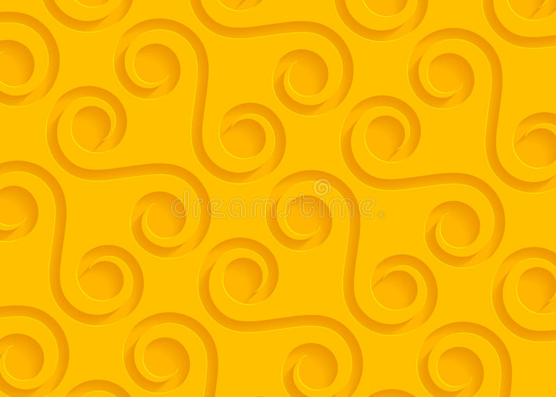 Yellow paper geometric pattern, abstract background template for website, banner, business card, invitation vector illustration