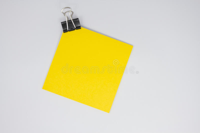 Download Yellow paper note stock image. Image of clamp, layout - 26810307