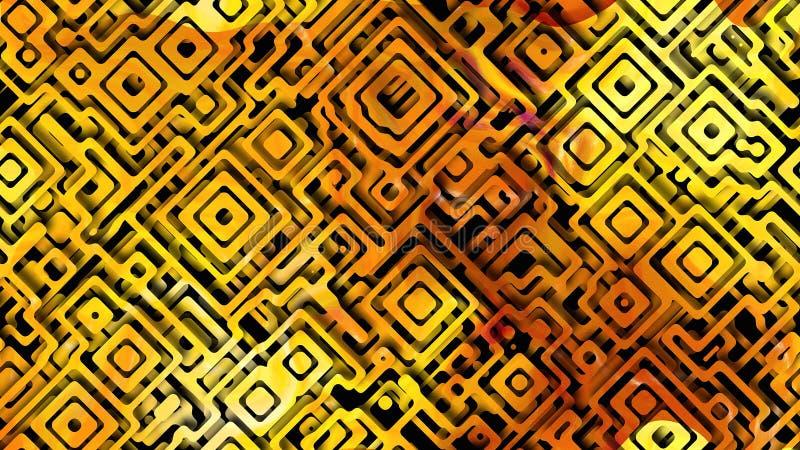 Yellow Pattern Orange Background Beautiful elegant Illustration graphic art design Background. Image stock illustration