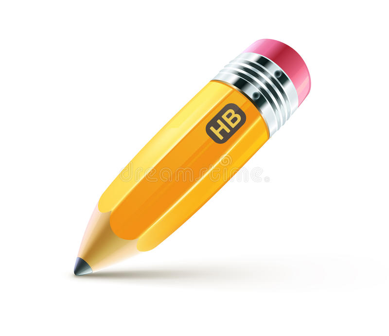 Yellow pencil vector illustration