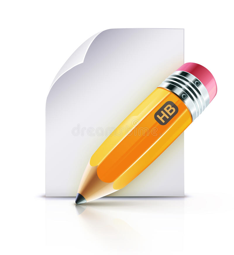 Yellow Pencil Royalty Free Stock Photography