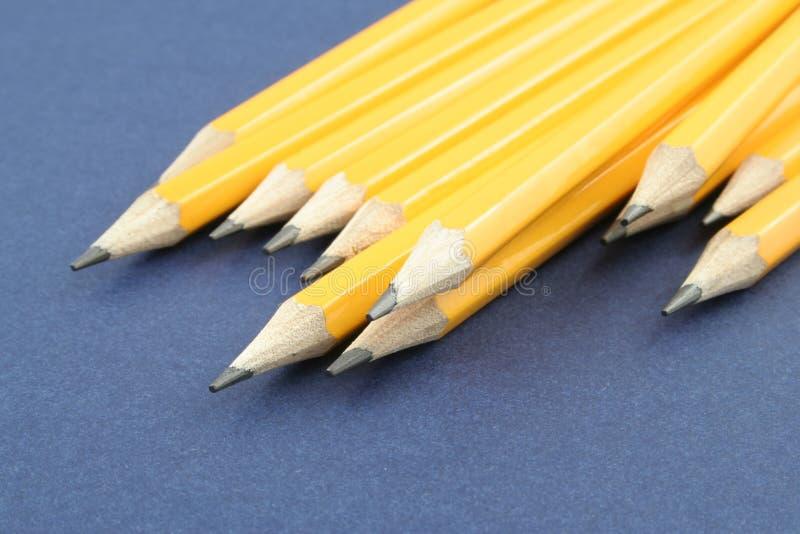Yellow Pencils royalty free stock photos