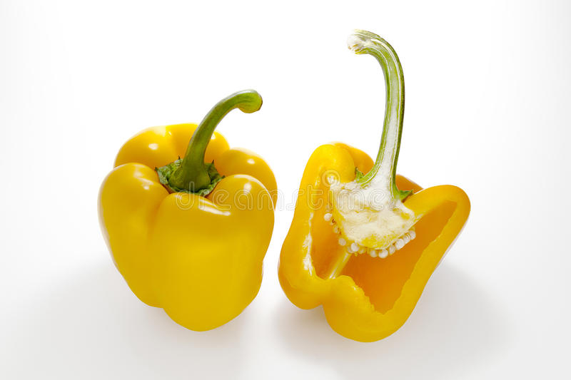 Yellow Peppers royalty free stock photos