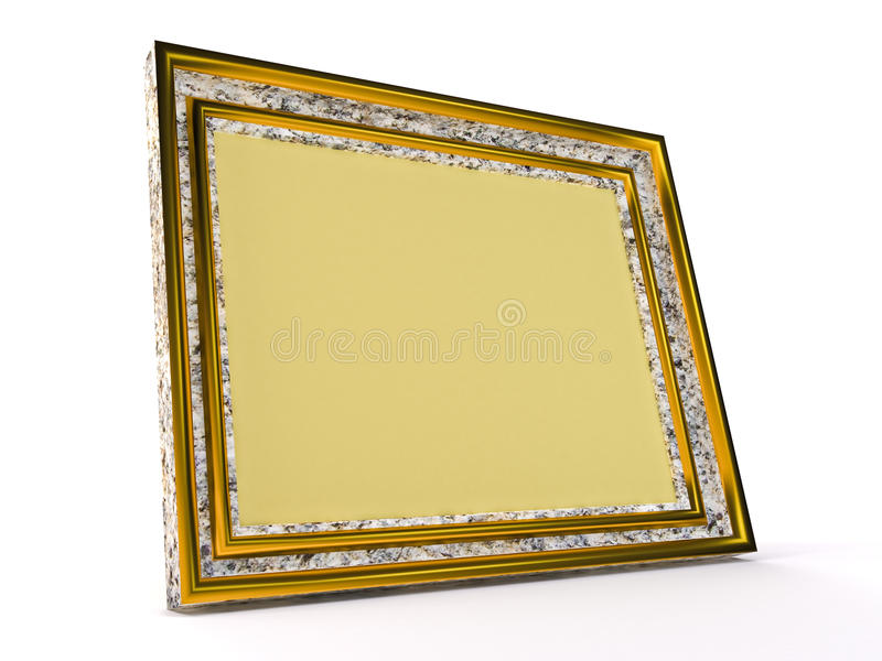 Download Yellow photoframe stock illustration. Illustration of abstraction - 10833243