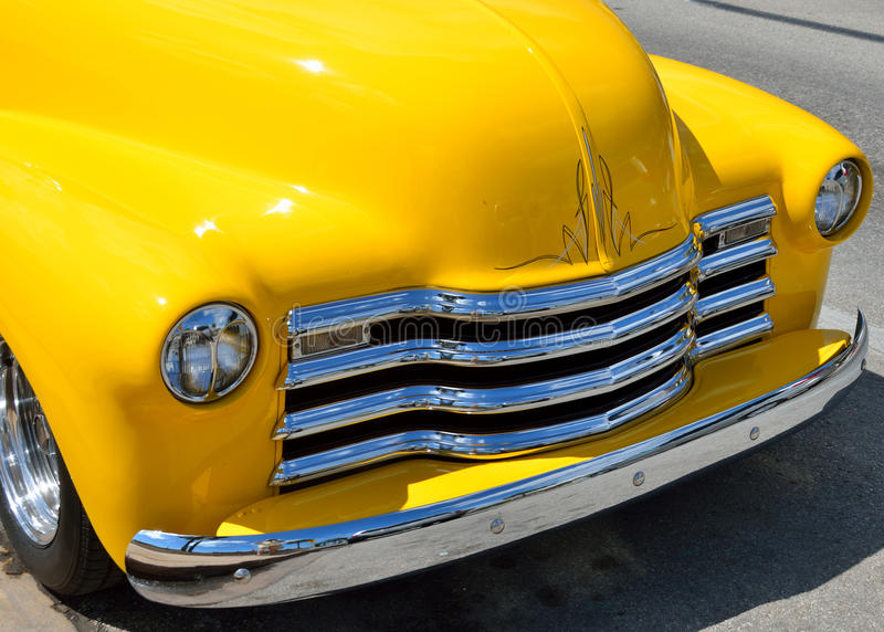 Download Yellow pickup truck stock photo. Image of headlamps, united - 25120676