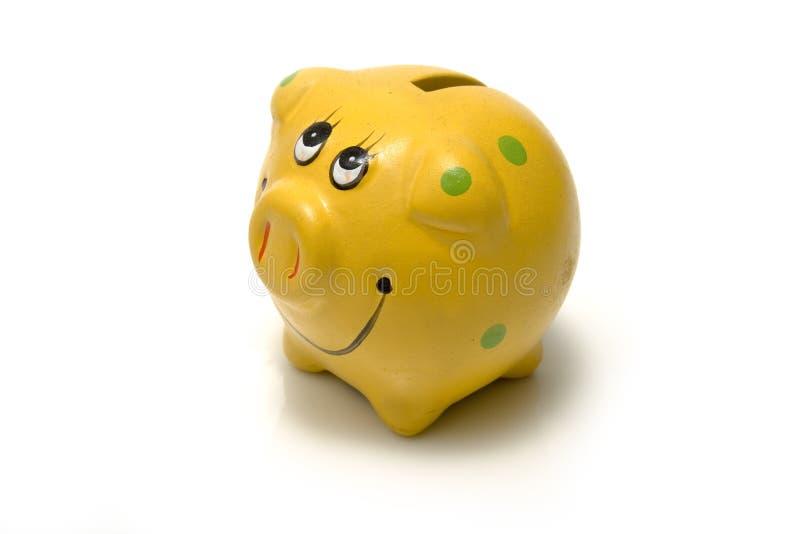 Yellow Piggy Bank Royalty Free Stock Photo
