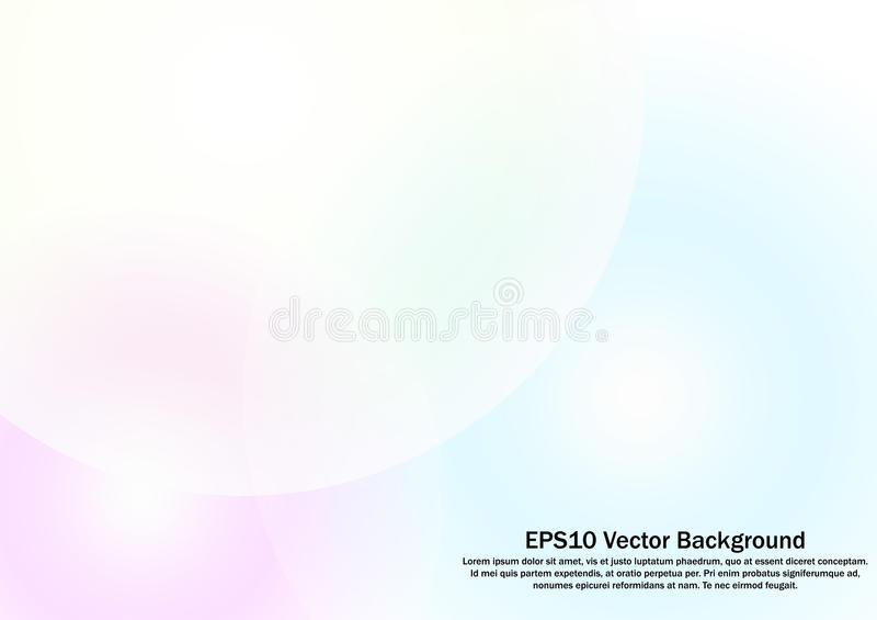 Yellow, pink and blue circle abstract gradient on white background royalty free illustration