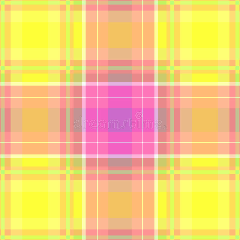 Yellow and pink plaid royalty free stock images