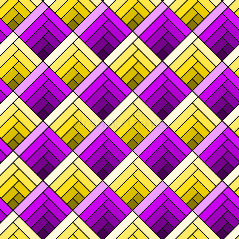 Geometric Squares Abstract Seamless Texture stock illustration