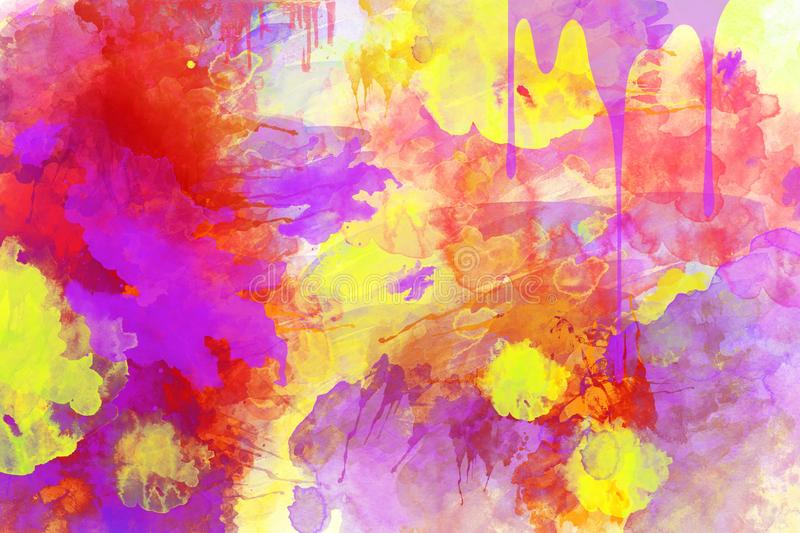 Yellow, Pink, Watercolor Paint, Art stock photography