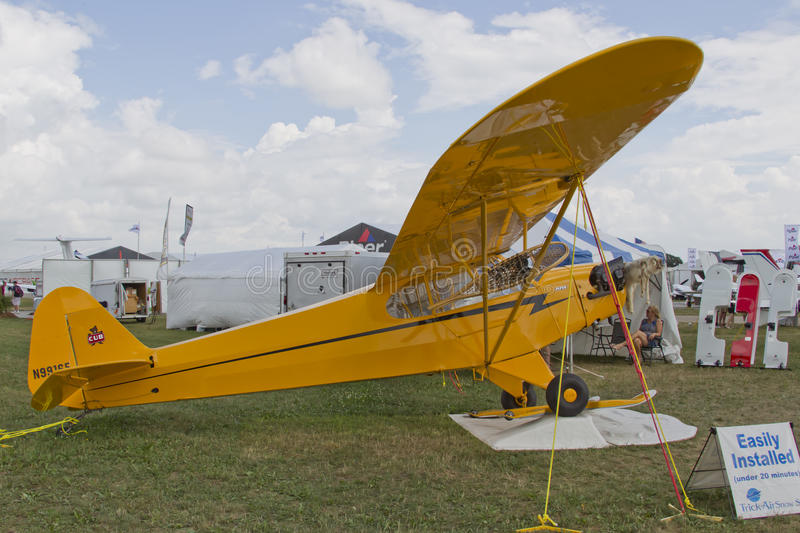 Yellow Piper Cub Plane Ready For Alaska Editorial Photography