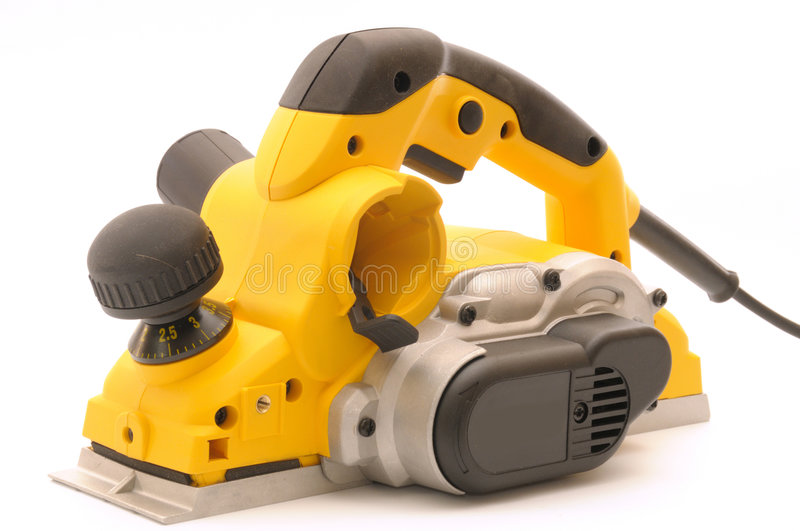 Download Yellow planer stock image. Image of material, brown, white - 5925091
