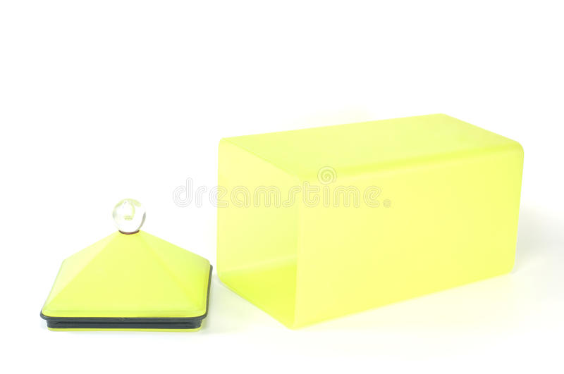 Yellow plastic container box. Yellow plastic container box isolated stock images