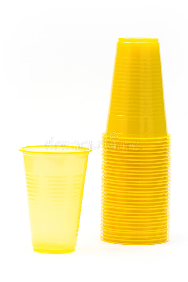 Download Yellow plastic glasses stock photo. Image of container - 12916180