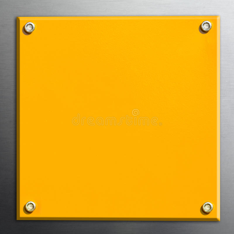 Yellow Plate Royalty Free Stock Images