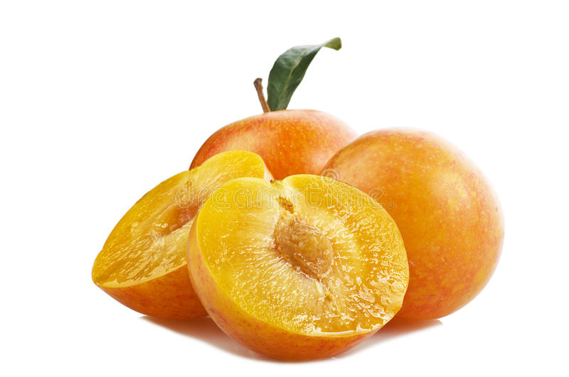 Download Yellow plums stock photo. Image of food, yellow, green - 23313050