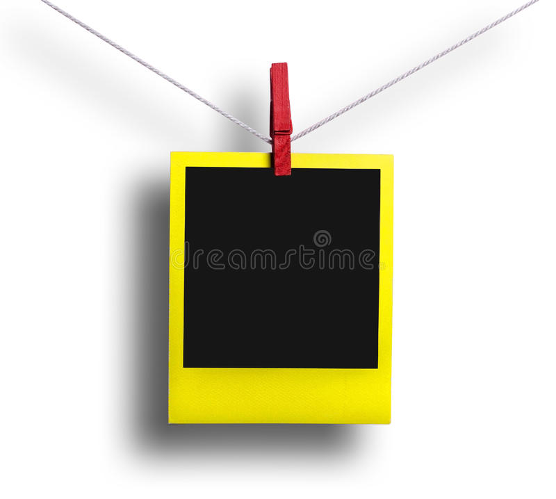 Yellow polaroid royalty free stock photography