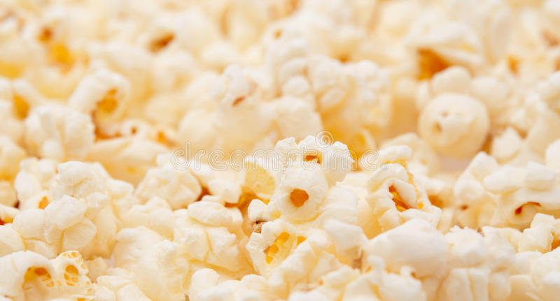 Yellow popcorn. (photo abstract - background royalty free stock photography
